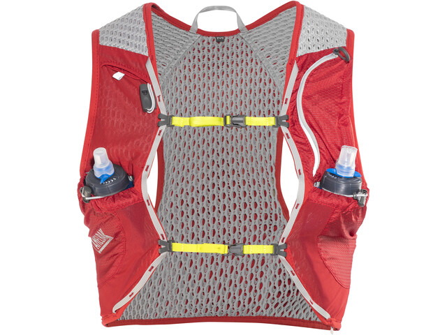 CamelBak Nano 17 Gilet d'hydratation avec Quick Stow Flask, crimson red/lime punch